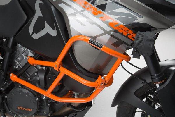 Protezioni tubolari sup. per prot. tub. orig. KTM Arancio. KTM 1290 SAdv R/S (16-), 1090 Adv (16-).