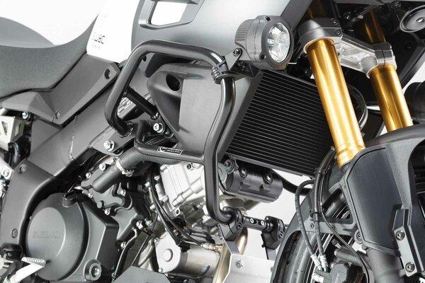 Protecciones laterales de motor Negro. Suzuki V-Strom 1000 (14-).