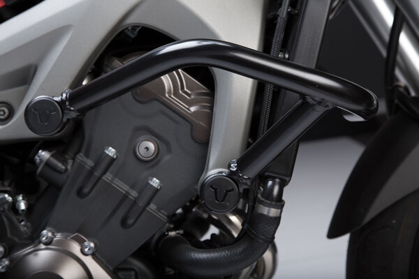 Protecciones laterales de motor Negro. Yamaha MT-09/Tracer, XSR900/Abar.
