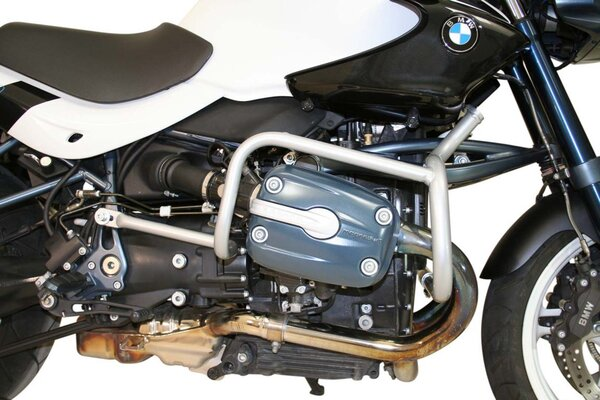 Protecciones laterales de motor Plateado. BMW R 1150 R Roadster/Rockster (04-06).