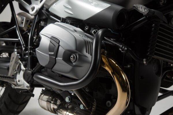 Barra di protezione motore Nero. Modelli BMW R nineT.