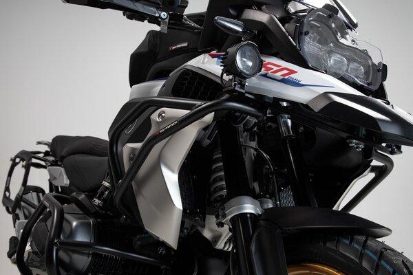 Protecciones de motor superiores Negro. R1200GS LC/Rallye (16-), R1250GS (18-).
