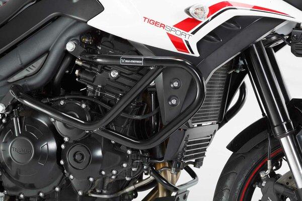 Protecciones laterales de motor Negro. Triumph Tiger 1050 Sport (13-).
