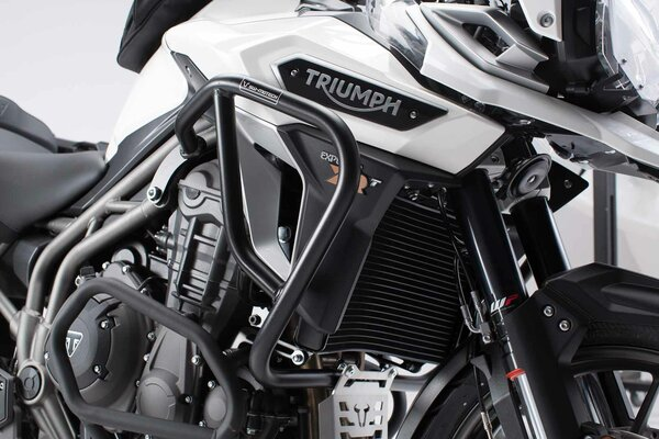 Protecciones laterales de motor Negro. Triumph Tiger 1200 / Explorer (15-).