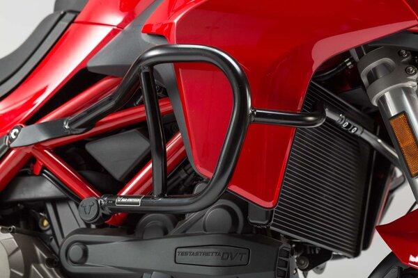 Protecciones laterales de motor Negro. Ducati MultStrd.1200 (15-), 950