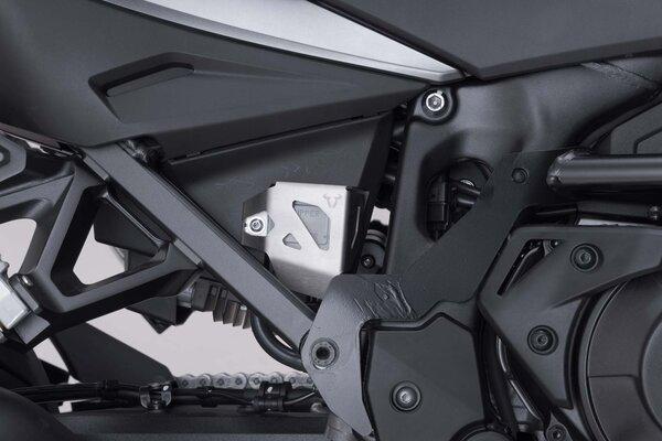 Bremsflüssigkeitsbehälter-Schutz Silbern. Suz DL1000 V-Strom (14-)/Honda CRF1000L.