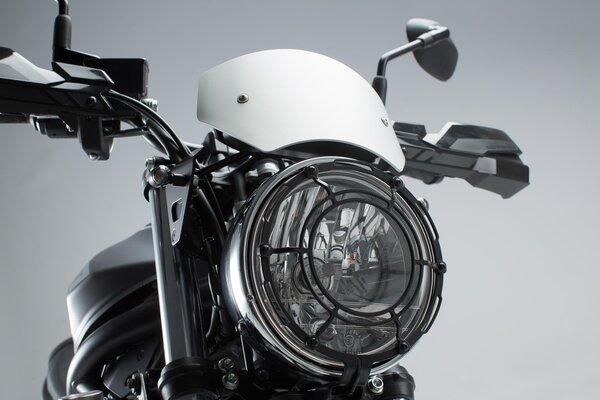 Windschild Silbern. Suzuki SV650 ABS (15-).