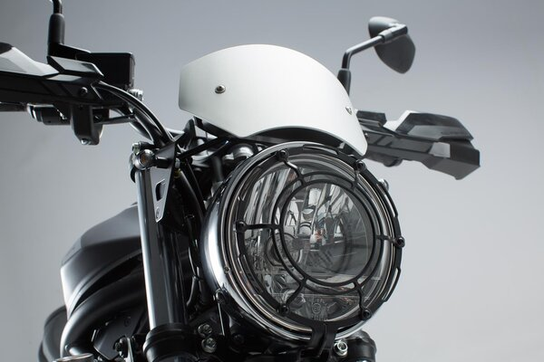 Windscreen Silver. Suzuki SV650 ABS (15-).