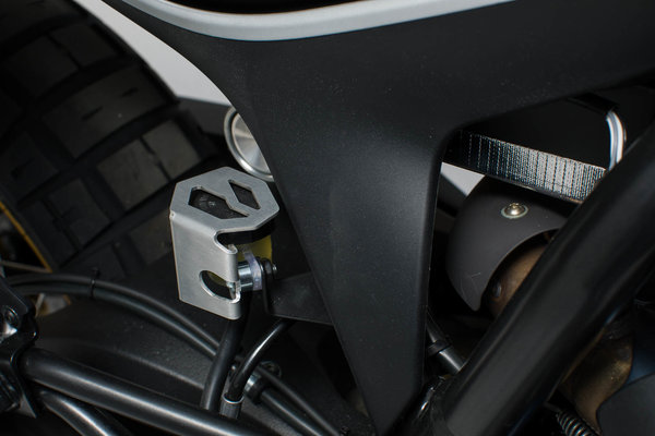Bremsflüssigkeitsbehälter-Schutz Silbern. BMW GS/GT-Modelle,Ducati Modelle.