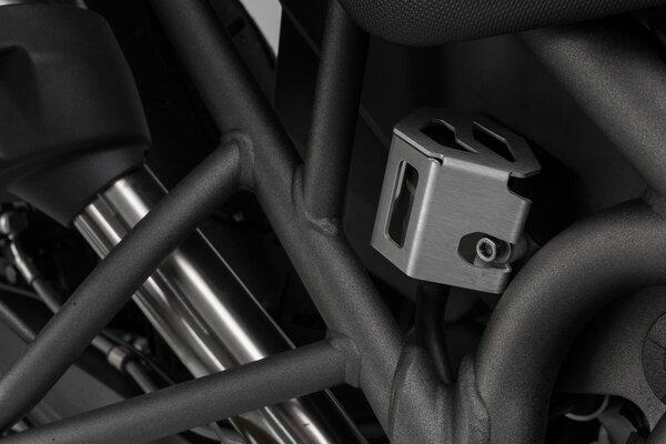Bremsflüssigkeitsbehälter-Schutz Silbern. Tiger 800 (10-), Yamaha MT-10 (16-).