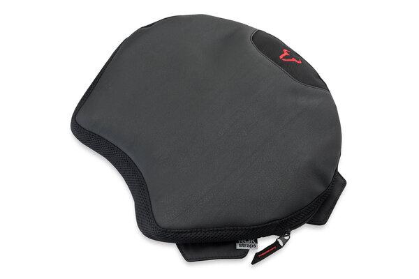 Cuscino comfort TRAVELLER SMART Nero. 33,5 x 38 cm. Con imbott. ad aria in poliur.