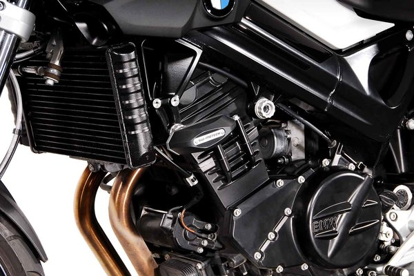 Slider set for frame Black. BMW F 800 R (09-14).