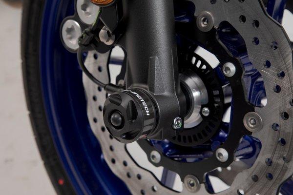 Slider set for front axle Black. Yamaha MT-07 (14-) / Yamaha XSR700 (15-).