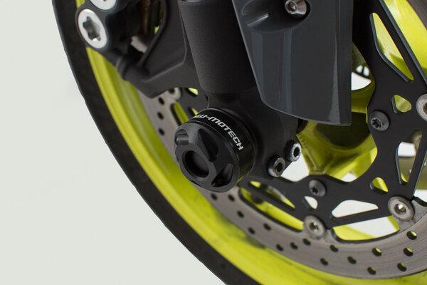 Kit tamponi di protezione per asse anteriore Nero. Yamaha YZF-R1 (15-) / MT-10 (16-).