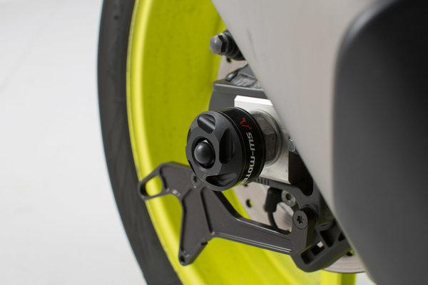 Sturzpad-Kit für Hinterachse Schwarz. Yamaha YZF-R1 (15-) / MT-10 (16-).