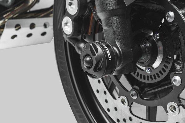 Sturzpad-Kit für Vorderachse Schwarz. Yamaha MT-09/Tracer (16-), Tracer 900GT.