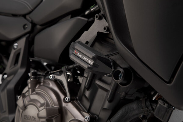 Slider set for frame Black. Yamaha MT-07 (14-).