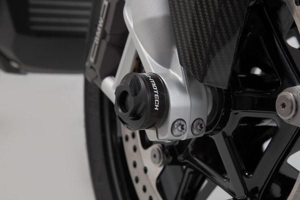 Kit tamponi di protezione per asse anteriore Nero. BMW S 1000 R (13-)/ RR (15-).