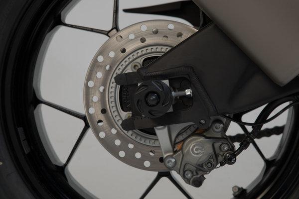 Slider set for rear axle Black. BMW S1000R, F750GS, F850GS/Adv, F900R/XR.