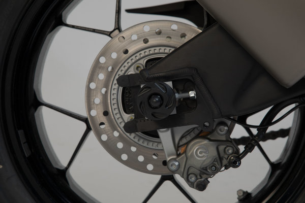 Sturzpad-Kit für Hinterachse Schwarz. BMW S1000R, F750GS, F850GS/Adv, F900R/XR.