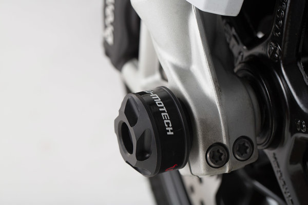 Kit de tope anticaidas para el eje delantero Negro. BMW F800R / R1200 / R1250 / S1000XR.