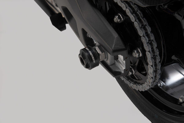 Kit de tope anticaidas para el eje trasero Negro. BMW S 1000 XR (15-).