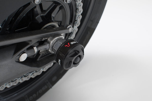 Slider set for rear axle Black. BMW G310R (16-). Honda X-ADV (16-).