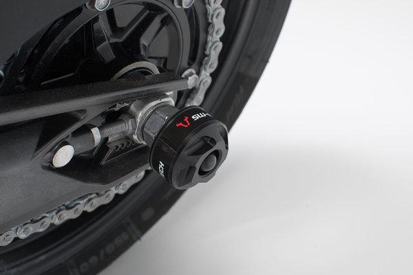 Roulettes de protection pour bras oscillant Noir. BMW G310R (16-). Honda X-ADV (16-).