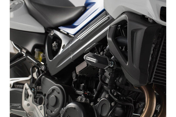 Slider set for frame Black. BMW F 800 R (15-).