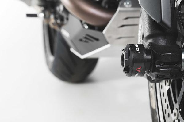 Sturzpad-Kit für Vorderachse Schwarz. Ducati Modelle.