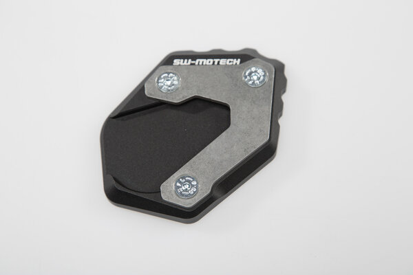 Extension for side stand foot Black/Silver. BMW R 1200/1250 GS Adv, Rallye.