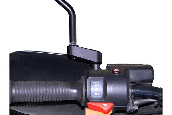Spiegelverlängerung Schwarz. Max. Verlegung: 40 mm. Für M8 Gewinde.