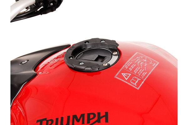 Anello aggancio serbatoio EVO Nero. MV Agusta/Triumph. Serbatoio con 6 viti.