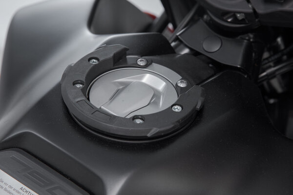 EVO tank ring Black. KTM 990 Super Duke / 790 Adv. 6 screws.