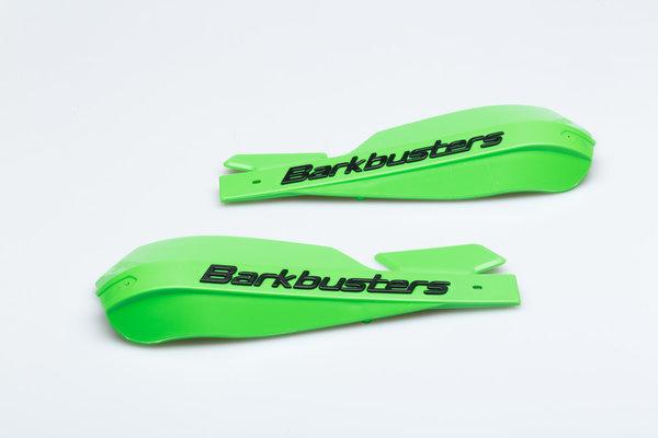 Protège-mains Barkbusters VPS en plastique Vert. Avec déflecteur d\'air noir réglable
