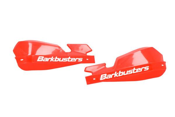 Plásticos de protectores de manos VPS Rojo. Con deflector de viento.