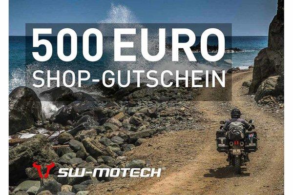 Webshop Gutschein 500 Euro Gratis Beigabe: Becher, Halstuch, Basecap, Weste.