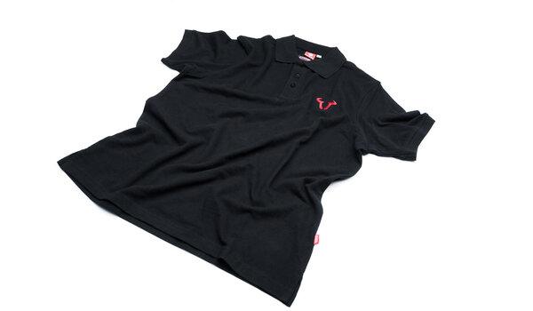 Polo-Shirt Core Line. Schwarz. Größe S.
