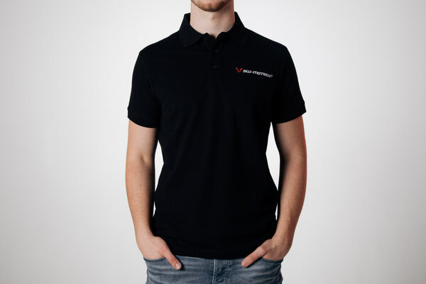 Team Polo-Shirt Core Line. Schwarz. Herren. Größe L.