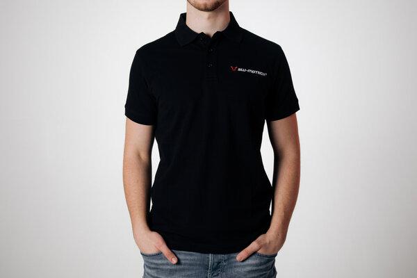 Team Polo-Shirt Core Line. Schwarz. Herren. Größe M.