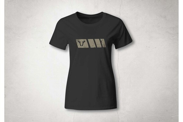 T-Shirt Legend Line. Schwarz. Damen. Größe S.