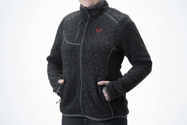 Soft knitted fleece cardigan Core Line. Black. Women. Size S.