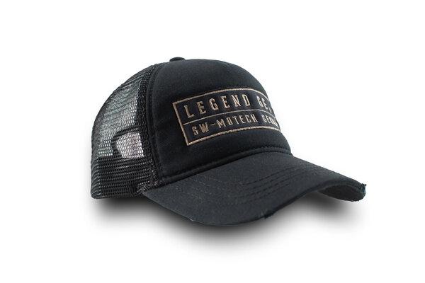 Legend Gear Cap Schwarz. 100% Bw. Mit Netzeinsatz. Einheitsgröße.