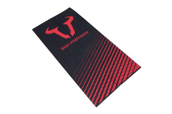 Halstuch Schwarz/Rot. 100% Polyester. Nahtlos.