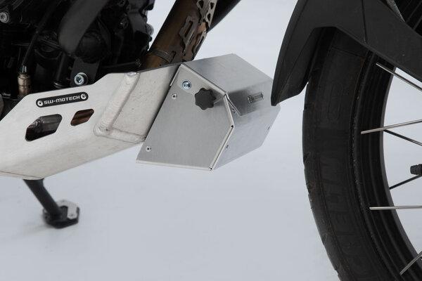 Werkzeugbox für Motorschutz 197x87x132 mm. Aluminium. Silbern.