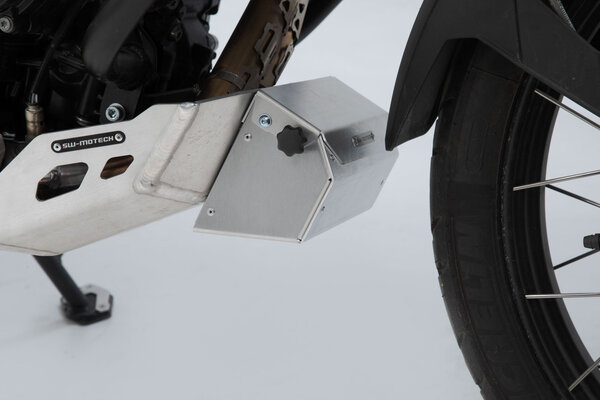 Tool box for engine guard 197x87x132 mm. Aluminum. Silver.
