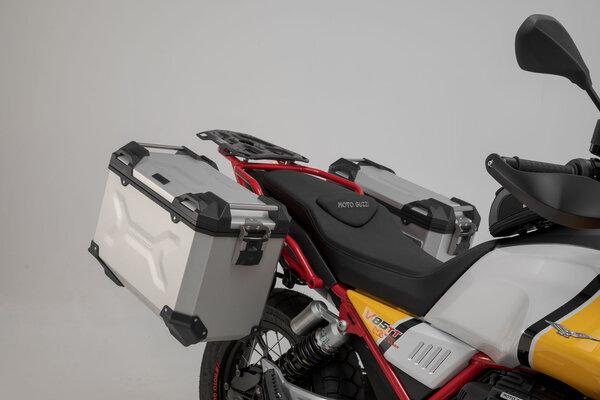 Adventure-Set Gepäck Schwarz. Moto Guzzi V85 TT (19-).