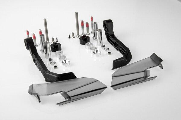 AERO-GP Brems-/Kupplungshebelschutz Schwarz. Für hohle Lenker/Lenker mit Innengewinde.