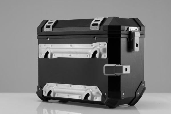 TRAX ION L Seitenkoffer. Aluminium. 45 l. Links. Silbern.