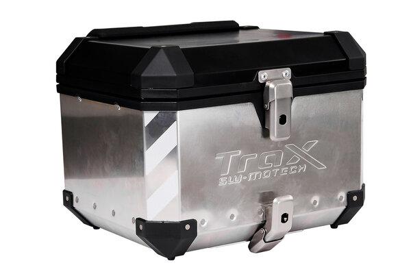 TRAX ION Konturmarkierung Für 2 TRAX ION Seitenkoffer/1 Topcase. Silbern.